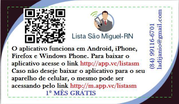 LISTA SÃO MIGUEL/RN