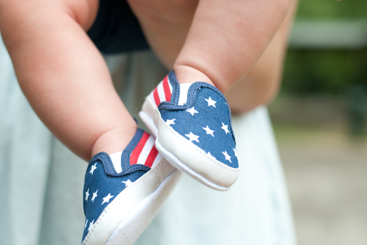 baby flag shoes