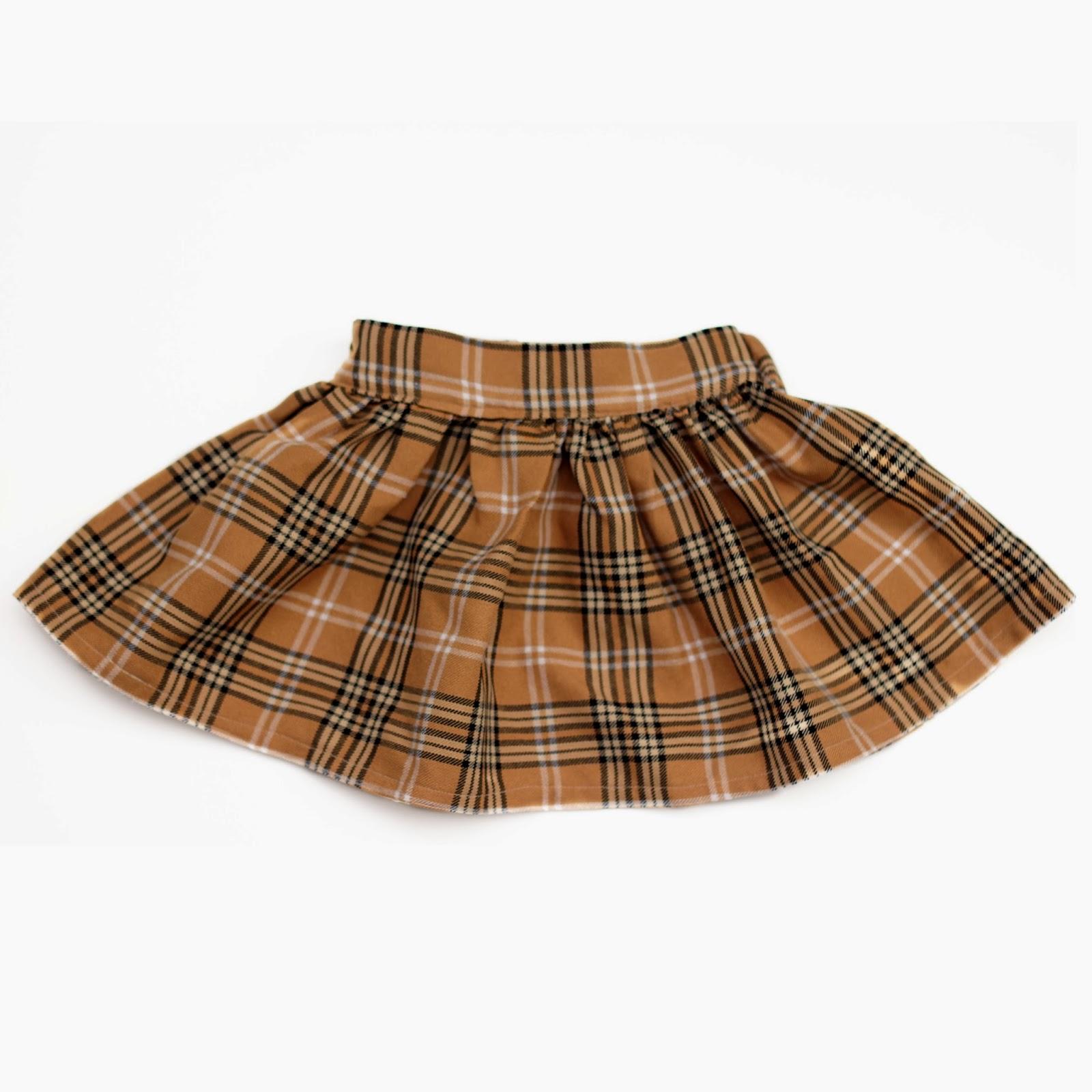 Flat front back elastic skirt