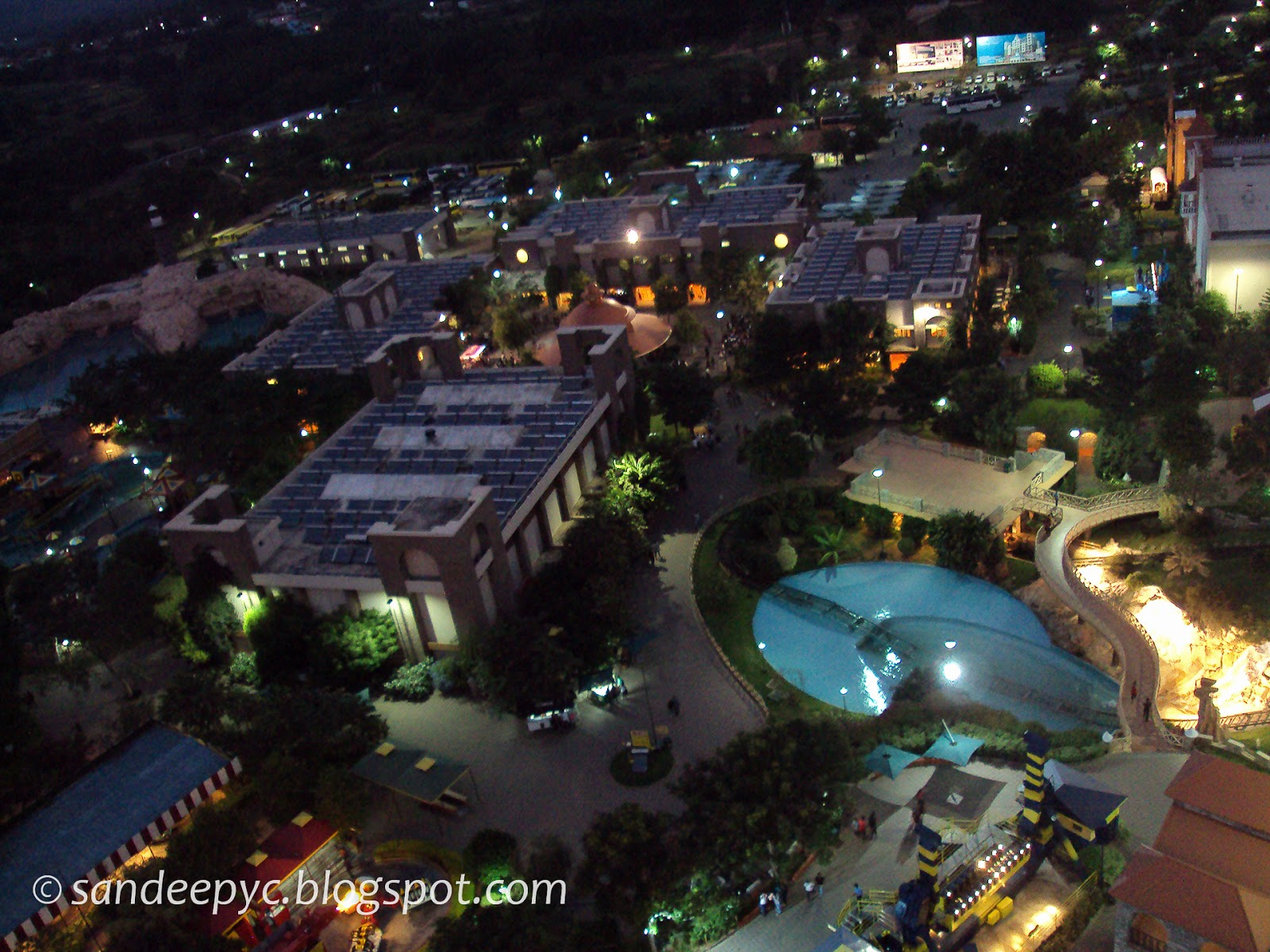 Night view of the WonderLa