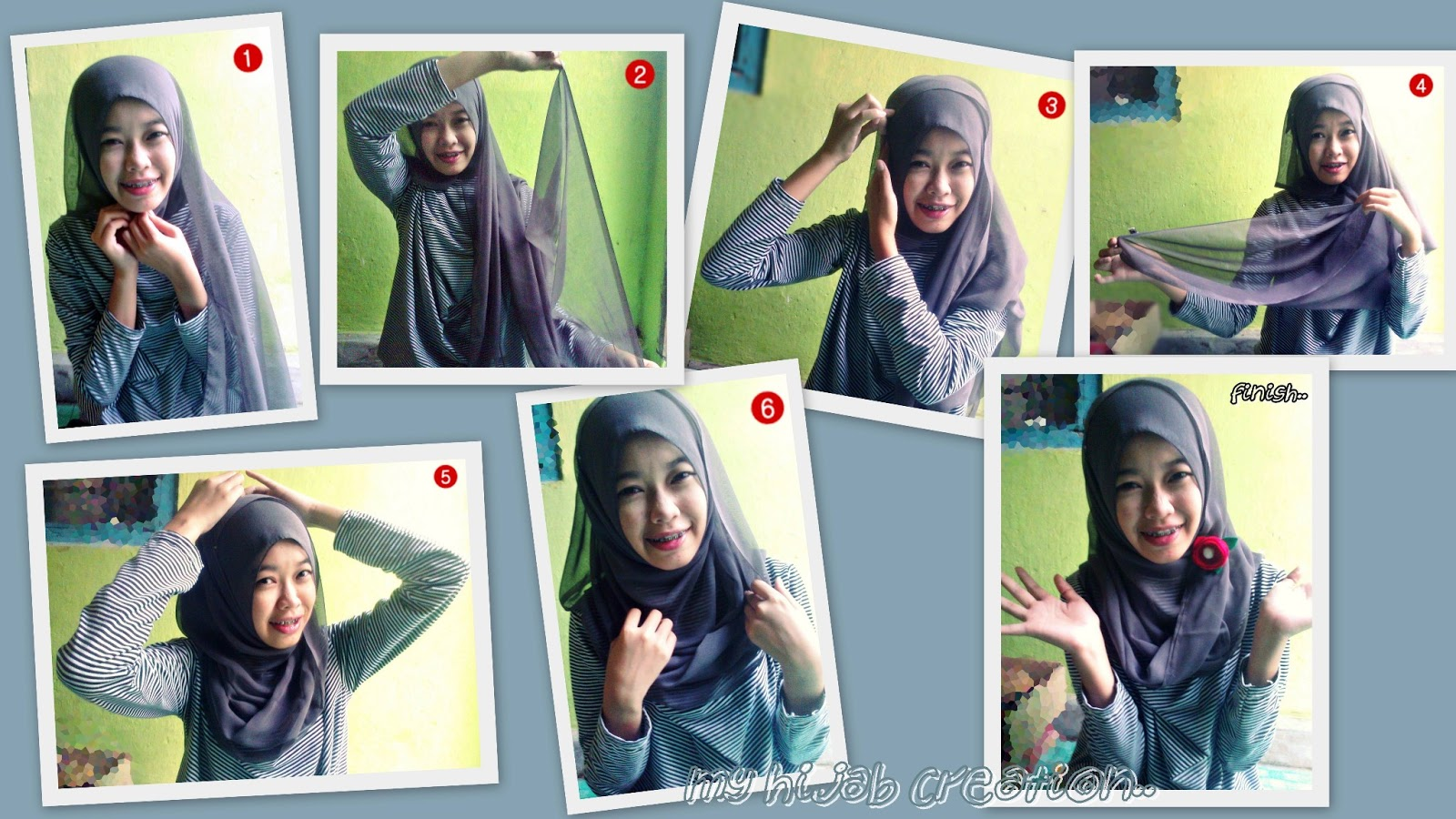 My Hijab Creation Paris Hijab Tutorial Style 1