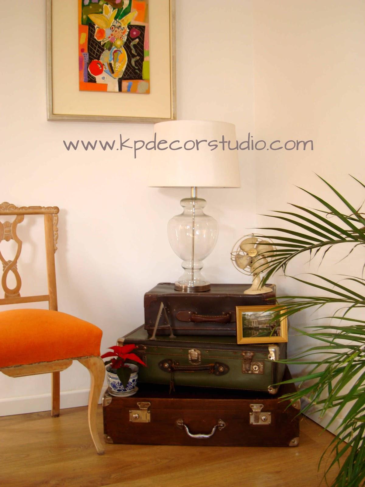 Kp decor studio decorar con maletas antiguas how to for Decoracion vintage valencia