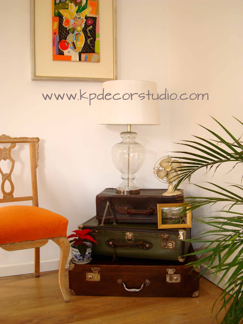 Kp decor studio decorar con maletas antiguas how to - Maletas antiguas decoracion ...