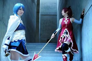 Shima and Watomune cosplay by Sayaka and Kyouko from Puella Magi Madoka Magica