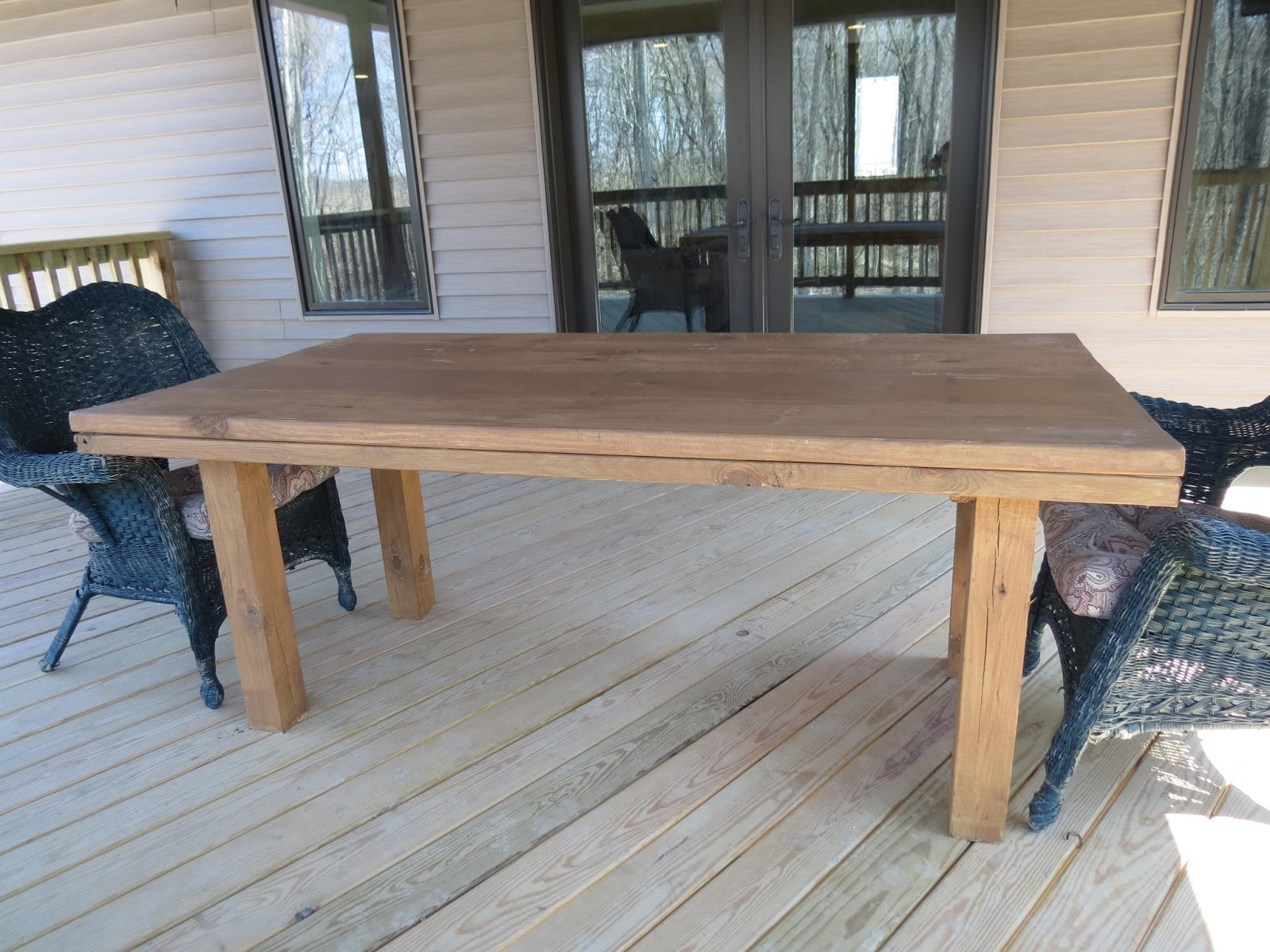 let 39 s just build a house simple diy patio table reveal