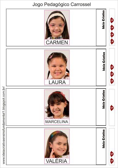 Jogo Pedagógico Personagens da Novela Carrossel