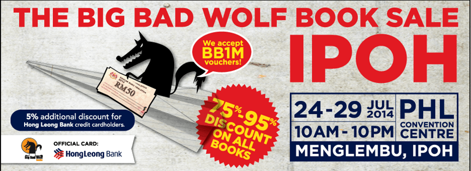 Big Bad Wolf,Book Sale,2014,Ipoh,Menglembu