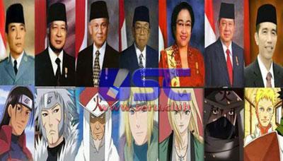 Kemiripan Antara Hokage di Film Naruto dengan Presiden Indonesia