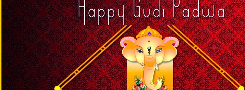 Gudi Padwa 2014 Facebook cover Ganesh God Wallpaper for whats app download