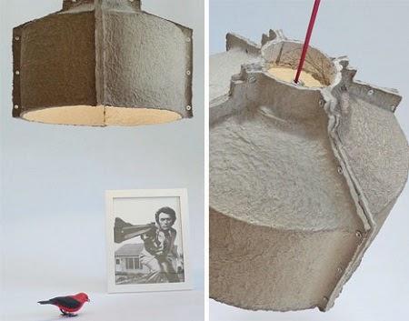 Lamparas de Carton Reciclado, Iluminacion Ecoresponsable