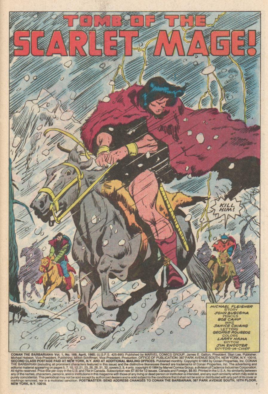 Conan the Barbarian (1970) Issue #169 #181 - English 2