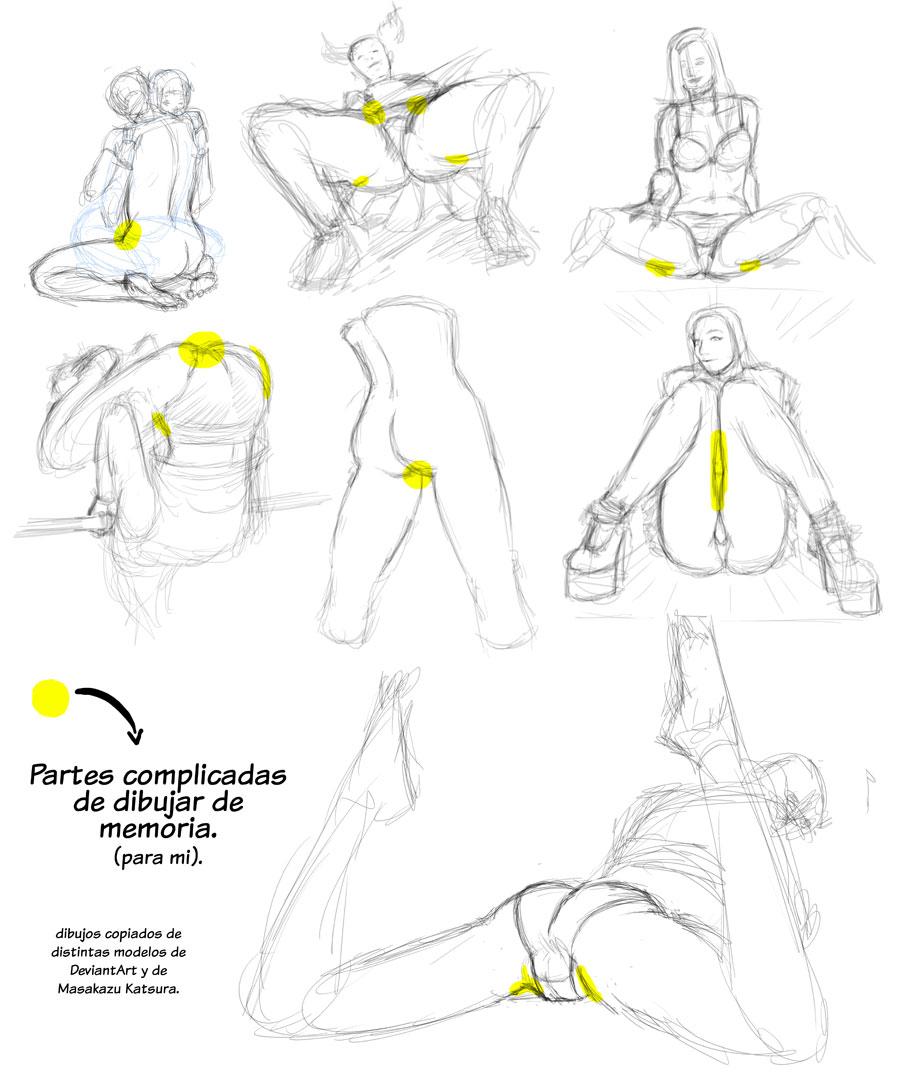 partes muchas veces prohibidas o poco comunes en los dibujos Shônen