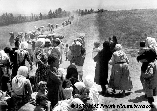 ... the forced migration of Palestinians from their homes in 1948.