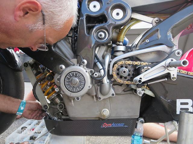 Dave Koban working on Britten P002