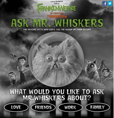 Mr. Whiskers fortune telling app