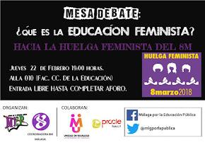 """Mesa de debate: """"¿Qué es la Educación Feminista?"""""""