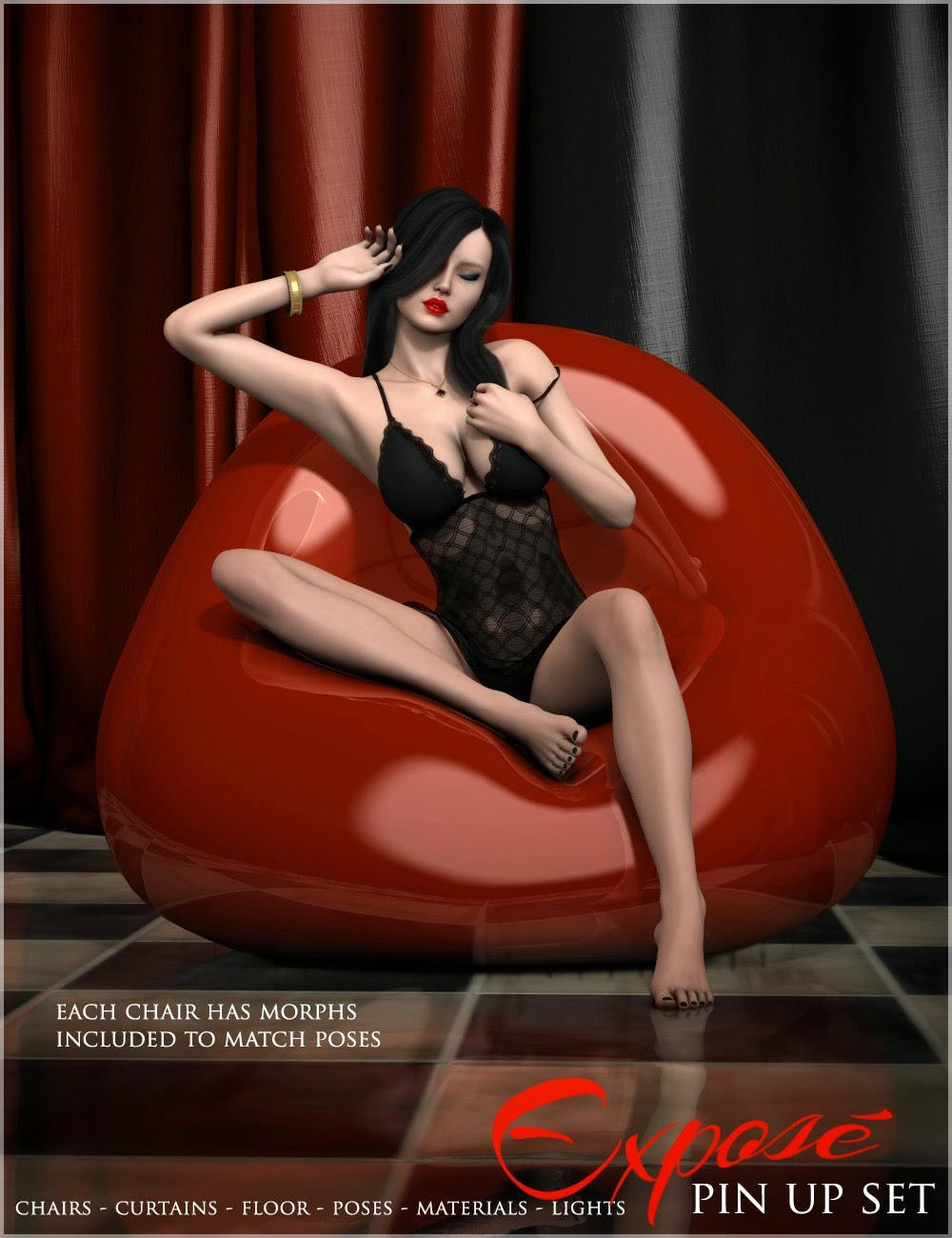 3d Models - i13 Exposé Pin Up Set