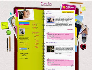 Download Template Diary Girl By Santa Mars