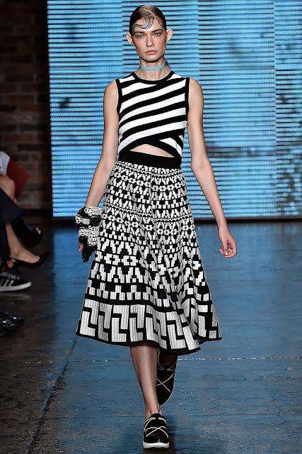 Falda larga DKNY, SS 2015