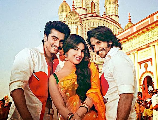 Ranveer Singh, Arjun Kapoor and Priyanka Chopra in Gunday