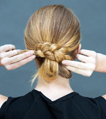 Tekuk kepangan rambut anda