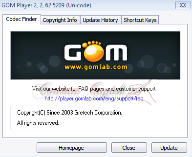 About GOM Player 2.2.62.5209