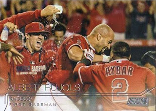 A trio of Albert Pujols cards