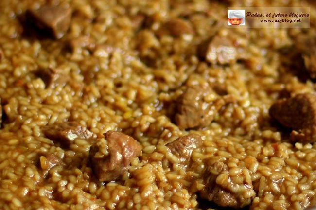 lazy blog arroz intenso de carne guisada previamente