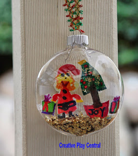 christmas bauble ornament from kids' art