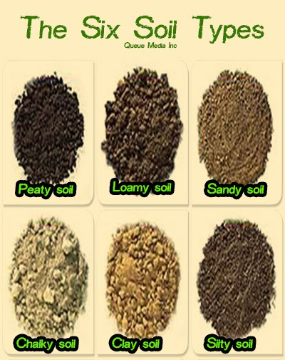 Garden and farms the six soil types for 4 parts of soil