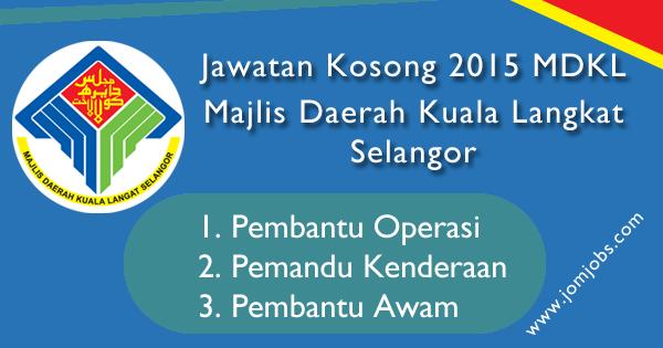 Jawatan Kosong MDKL - Majlis Daerah Kuala Langat Selangor 2015