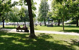 Kunstareal-Fest München 2015 - Grünfläche vor der Alten Pinakothek