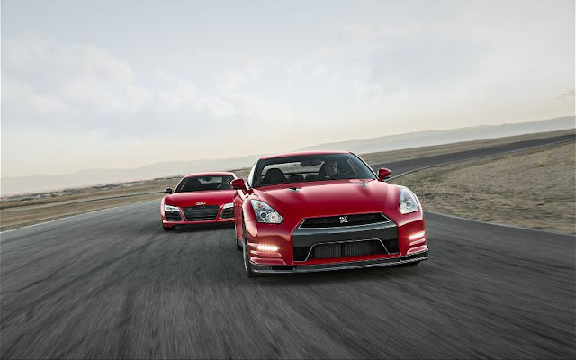 2014 Nissan GT-R Track Pack vs 2014 Audi R8 V-10 Plus