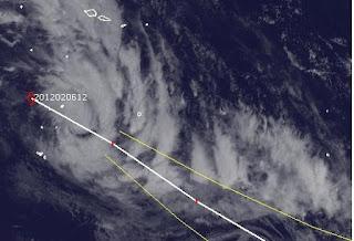 System 11P bei Fidschi wird zum Tropischen Sturm CYRIL