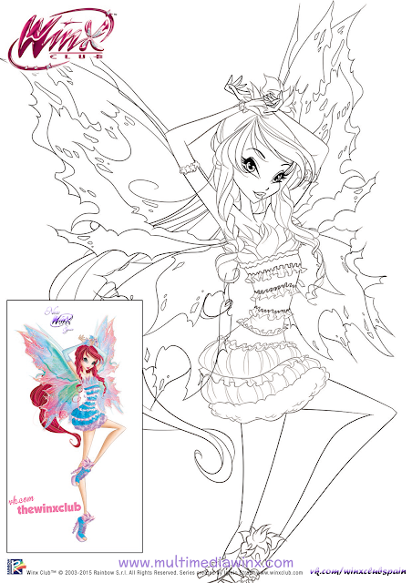 winx club tynix coloring pages - photo#23