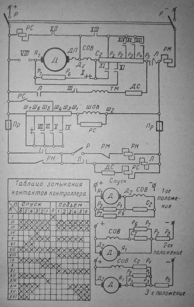 Схема электропривода серийной