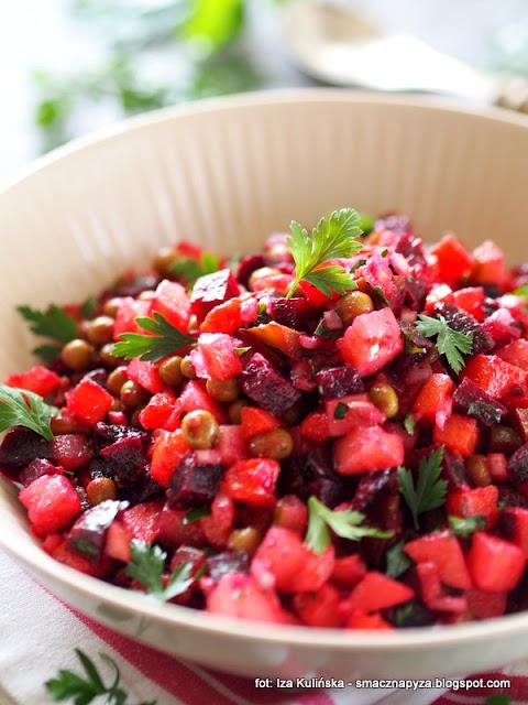 sałatka winigret , sałatka jarzynowa , bez majonezu , sałatka warzywna , warzywa , jarzyny , przekąski , zakąski , kuchnie świata , kuchnia rosyjska , najlepsze przepisy , najsmaczniejsze dania , domowe jedzenie ,