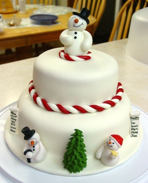 Home decorating ideas christmas cake decorating ideas for Decoration ideas for christmas cake