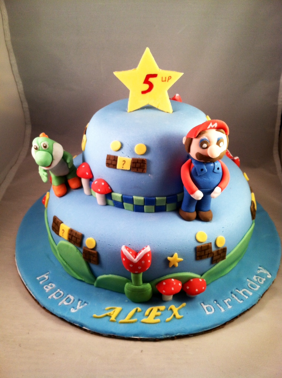 Mario Bros Themed Cake Super Mario Bros Birthday Cake Fun Sugar