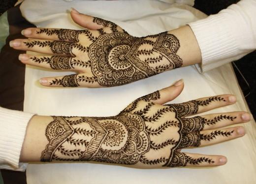 Mehndi For Kids Full Hand : Latest full hand bridal mehndi designs picture s fashion world