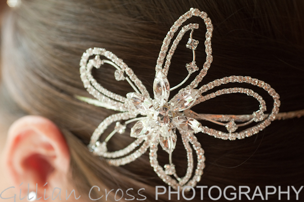 Wedding hair accessory detail