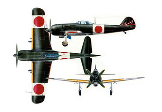 K Nakajima Kuzmodels Minicraft: World War-II Three View Colour Profile Aircraft
