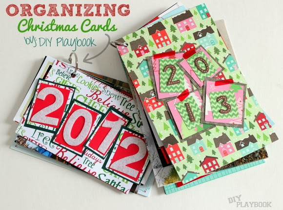 A Christmas Card Book is a great way to keep old Christmas Cards organized and accessible so you can look at them again and again!