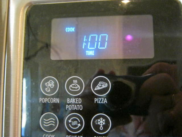 Set the microwave for 1 minute.