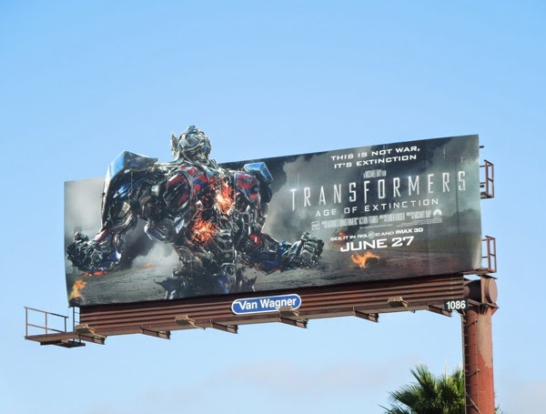 Transformers Age of Extinction Optimus Prime billboard