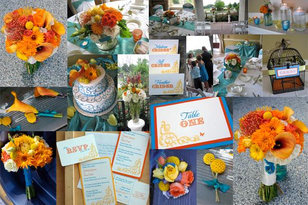decoracao casamento rustico azul e amarelo: Noivas Casadas: Decoração do Casamento: Laranja, Azul e Amarela