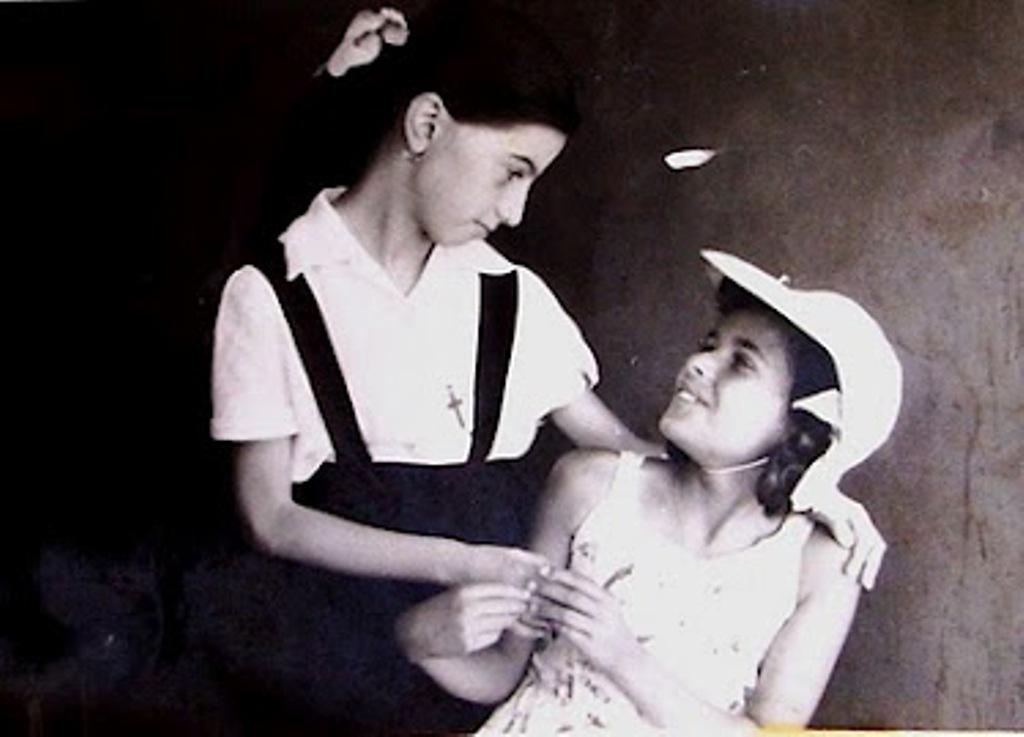 Με την πρώτη παιδική μου φίλη Καλλιόπη