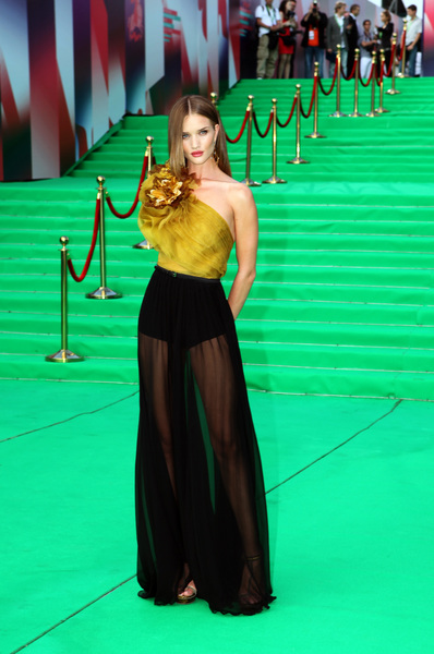 Rosie Huntington Whiteley+Gucci+Gown+Transformers+3