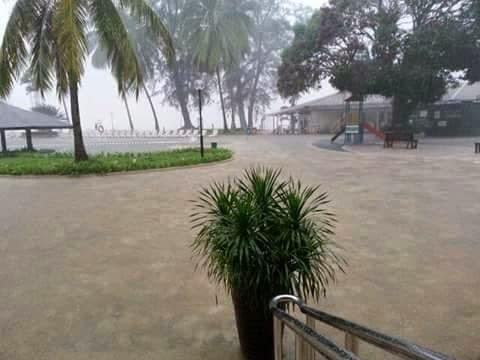 Gambar Banjir Di Damai Beach Resort, Santubong Sarawak 16-2-2015