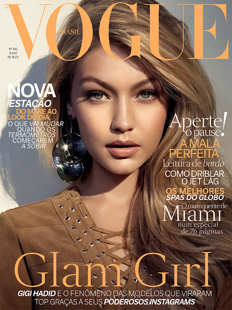Fashion Model @ Gigi Hadid by Henrique Gendre for Vogue Brazil, July 2015